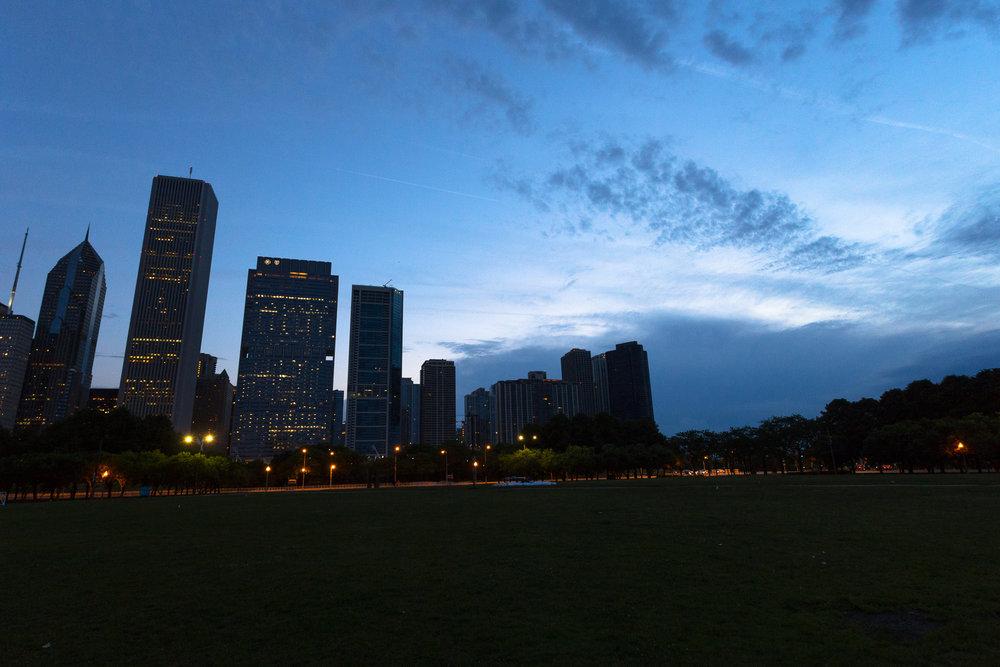 Grant Park at dawn - Chicago, IL
