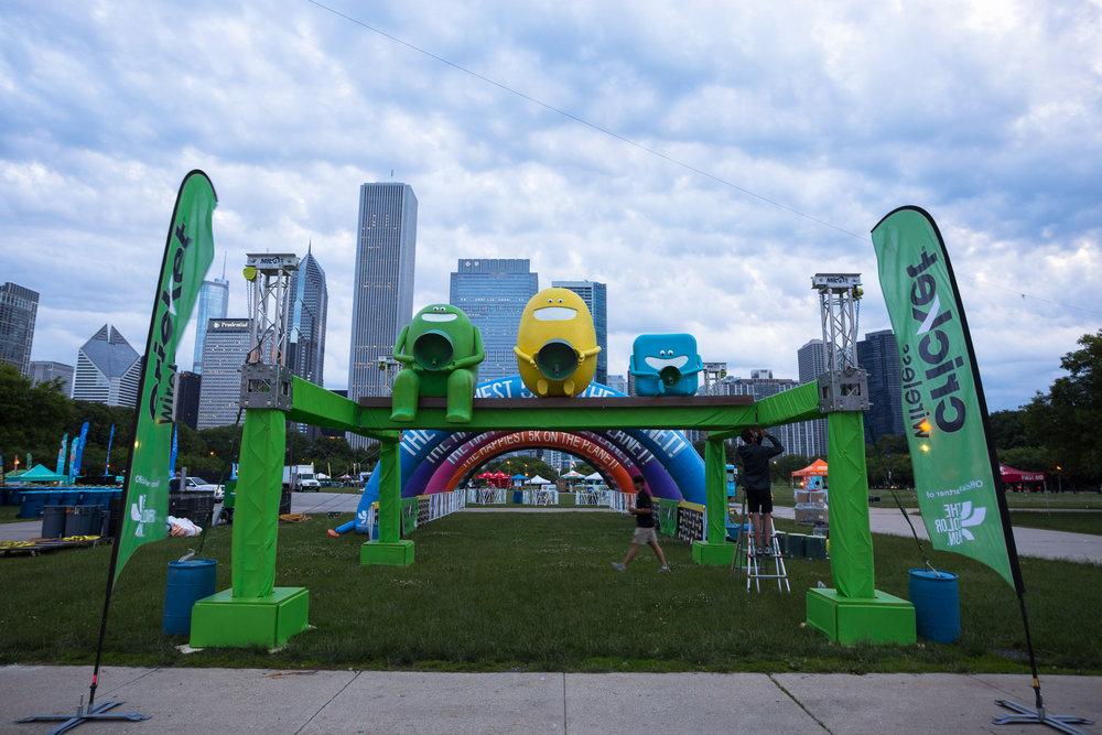 The Color Run finish line - Grant Park - Chicago, IL