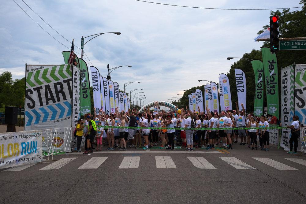 The Color Run start line - Chicago, IL