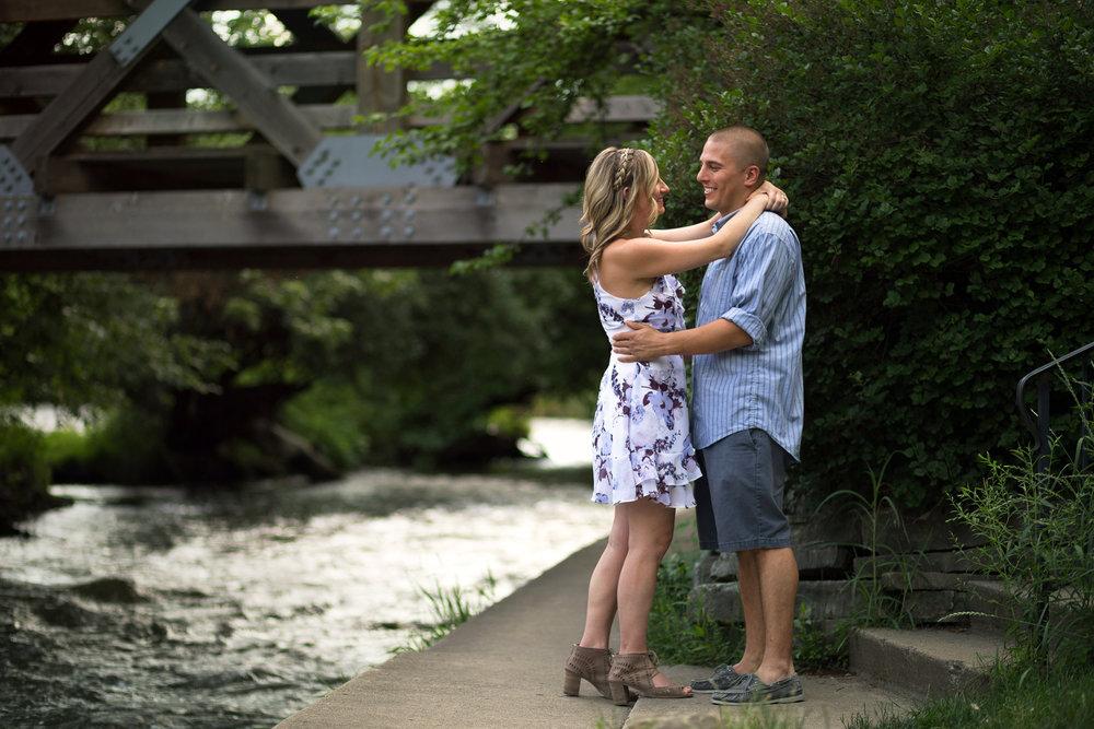 Naperville Riverwalk Engagement Photos