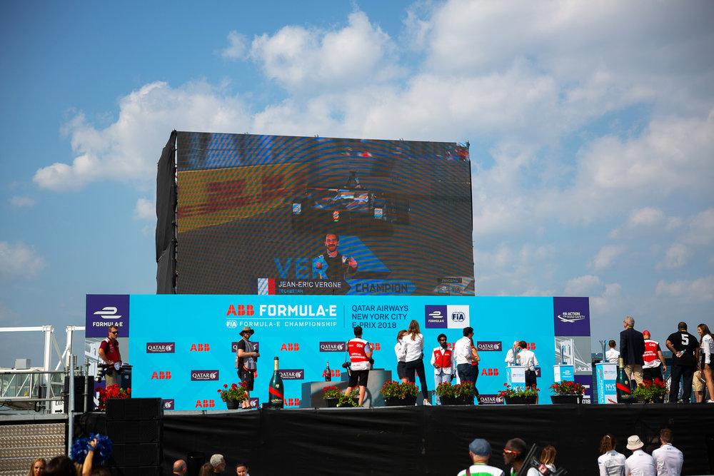 Formula E podium