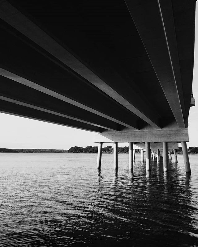 Under the bridge 🌶️ #Portland #maine #falmouth #bridge