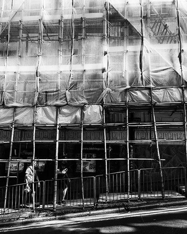 Bamboo scaffolding  #hongkong #china #PierceTravels #asia #bamboo
