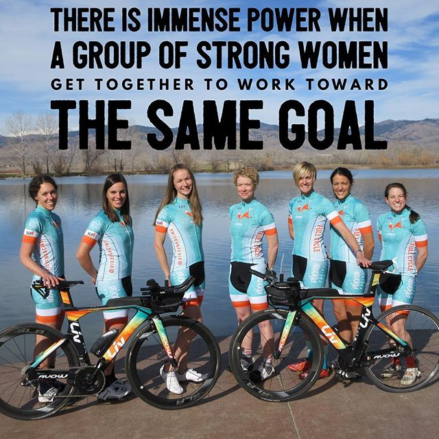 """There is immense power when a group of strong women get together to work toward the same goal."" #youchoose #differentkindofteam #whosin #beavixxen #ironmantri @ironmantri #70point3 #140point6 #ironman #ironmantraining #committotri #trigirls #womenwhotri #ekendurance #racewithbase"