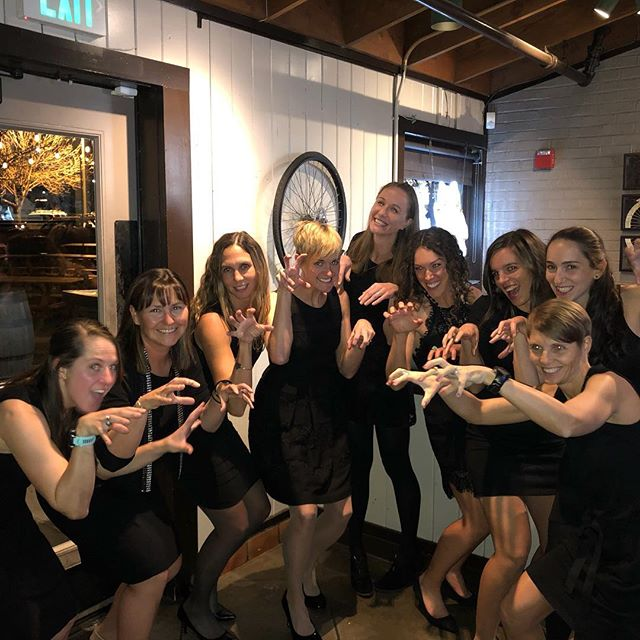 What does the fox say? Wonderful night celebrating a wonderful season with this team! Wish we could have everyone there, but great to toast to each other the sponsors, Coach, teammates, training partners, spouses and friends! . . . . . #beavixxen #whatdoesthefoxsay #lbd #classy #littleblackdress #vixxenracing #ekendurance @boulderracing_cms @sashaboulderrealestate