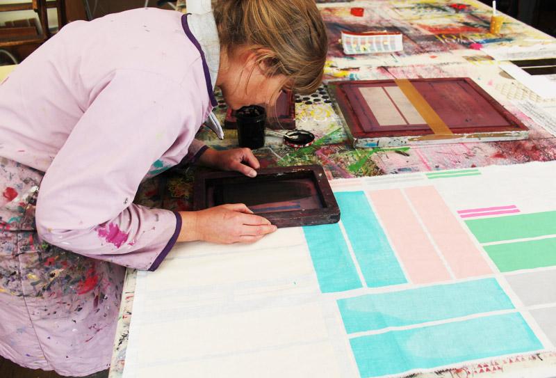 charlene in her studio