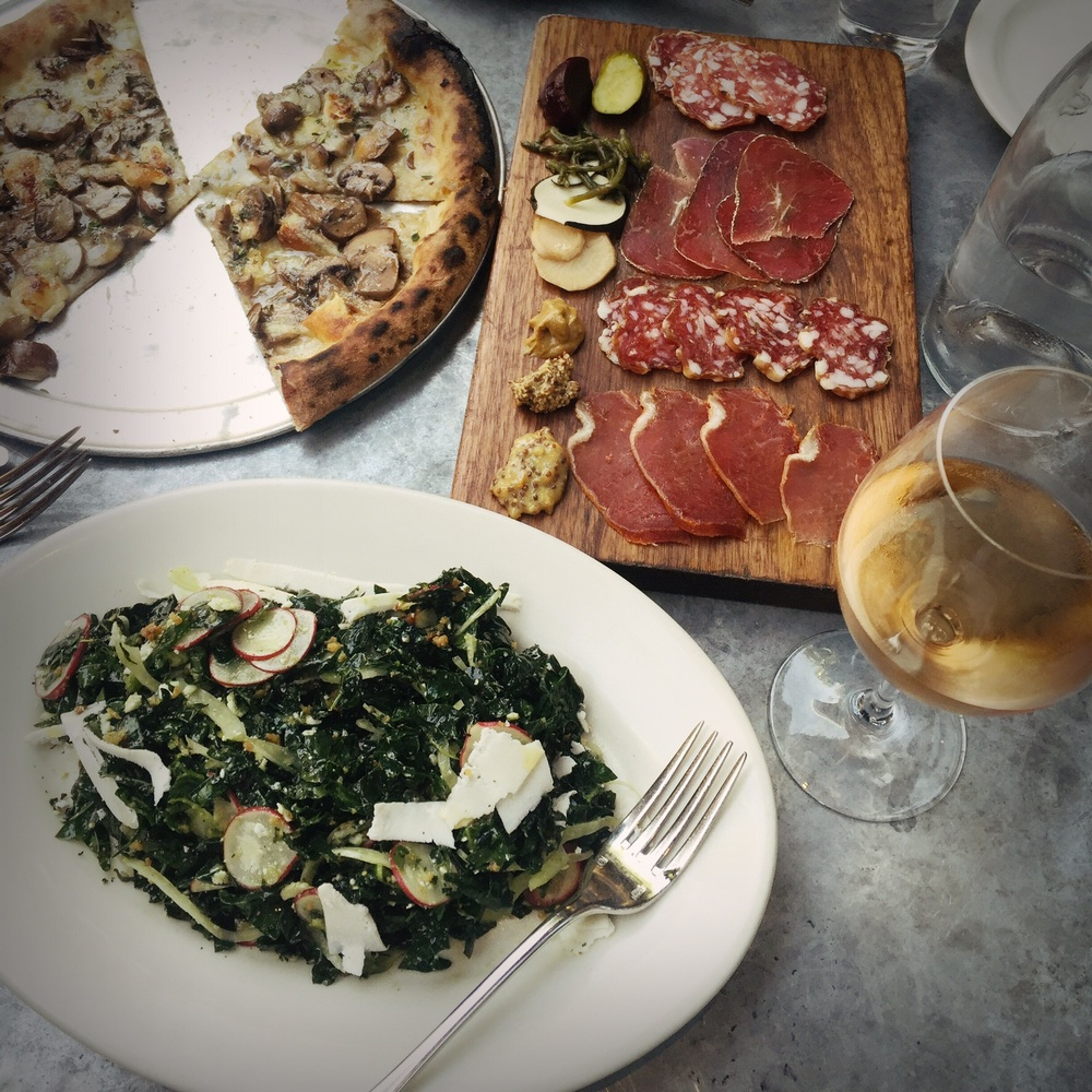 Pizza, Salad and Rosé in Venice never hurts