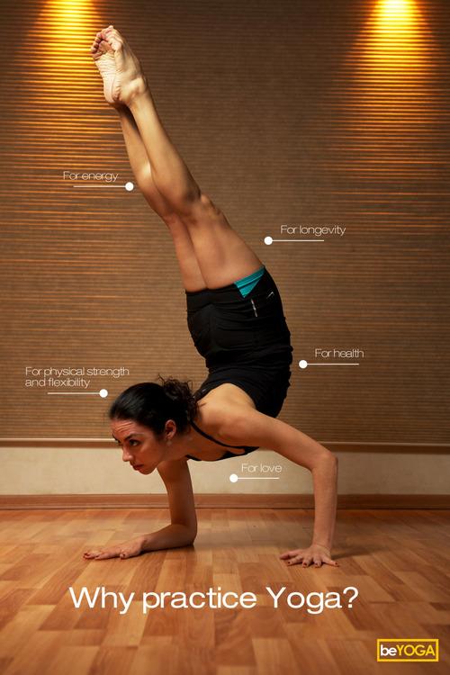 Por qué practicar yoga?   (de izquierda a derecha)   - Para fortalecer el cuerpo y flexibilidad   - Para tener más energía   - Longevidad   - SALUD   - AMOR