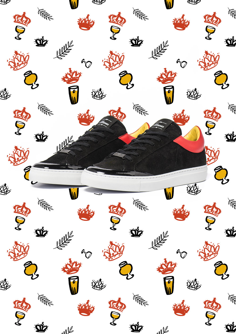 Design for Clio Goldbrenner. Patterns to go alongside the Achille 21st trainers, limited edition for Belgium National Day 2017.