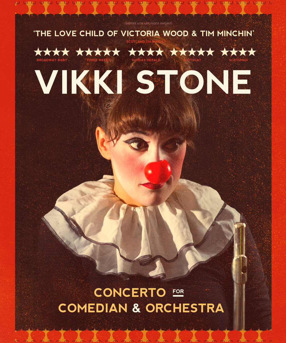 Vikki Ston Concerto For Comedian And Orchestra Poster