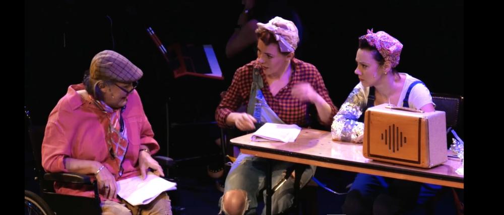 Rachel Tucker, Rachel Bell and Sherrie Pennington in The Riveters Workshop