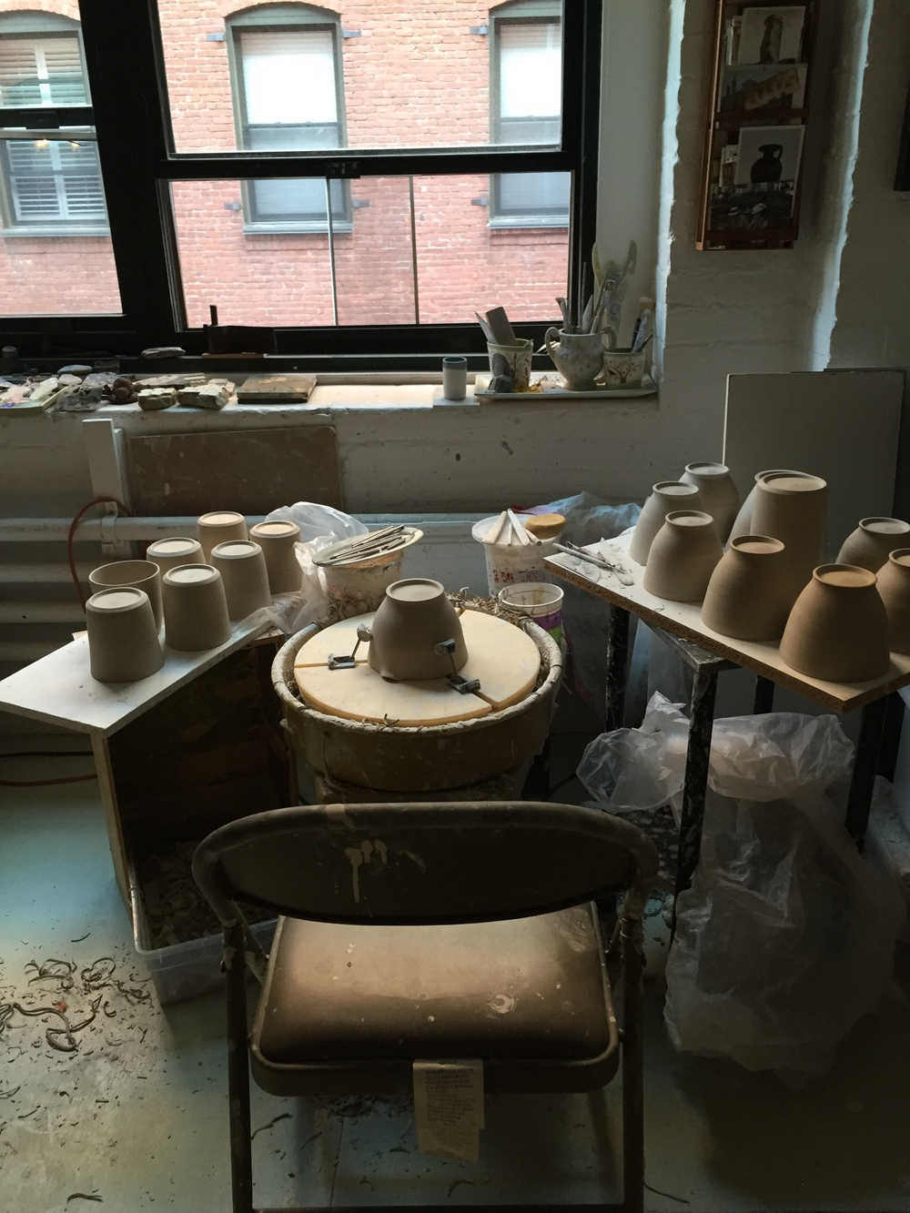Gabrielle Schaffner ceramic studio