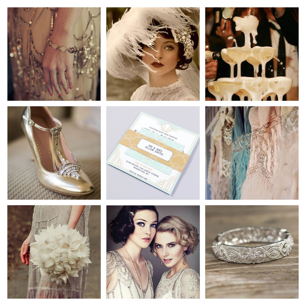 Great Gatsby Wedding Theme, Twenties Wedding Theme, 20s Theme, Wedding Style, Luxe Wedding, Luxury Wedding, Wedding Style, Styling Your Wedding, Pingle Pie