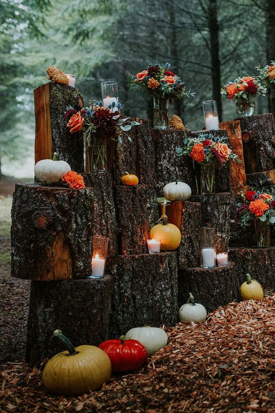 Woodland - Pumpkin Wedding Inspiration, Autumnal Wedding Ideas, Autumn Wedding Style - Pingle Pie.jpg