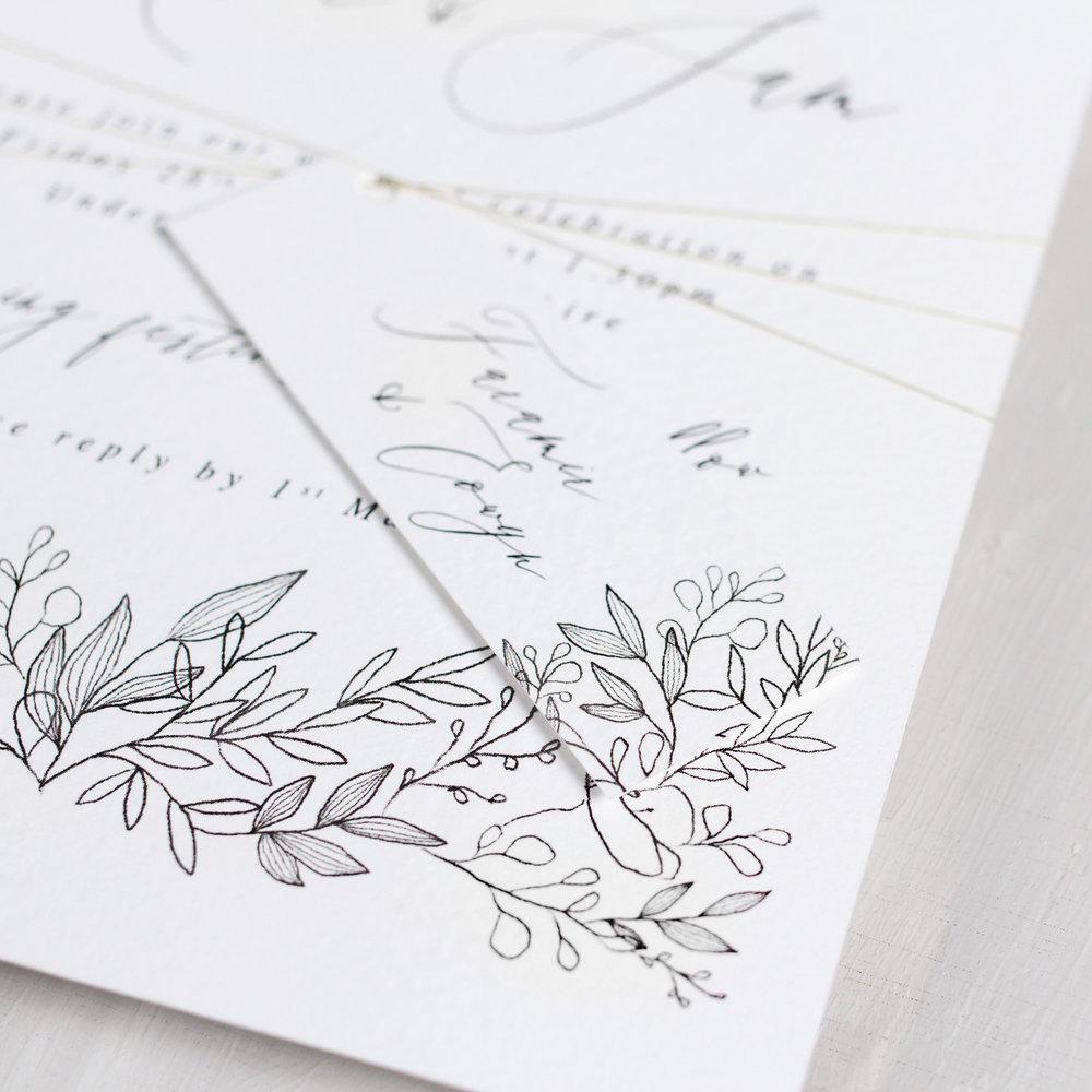 Luxury-Wedding-Stationery-Unique-Illustrated-Floral-Botanical-Leaves-Flowers-Spring-Summer-Wedding-Invitation-Parcel-Close-Up-Goldberry-Pingle-Pie.jpg.jpg