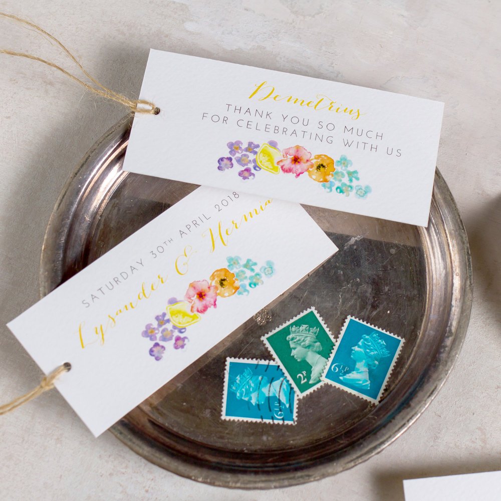 Summery-Wedding-Stationery-Luxury-Unique-Hand-Painted-Floral-Bright-Yellow-Wedding-Place-Card-Favour-Tags-2-Rising-Sun-Pingle-Pie.jpg