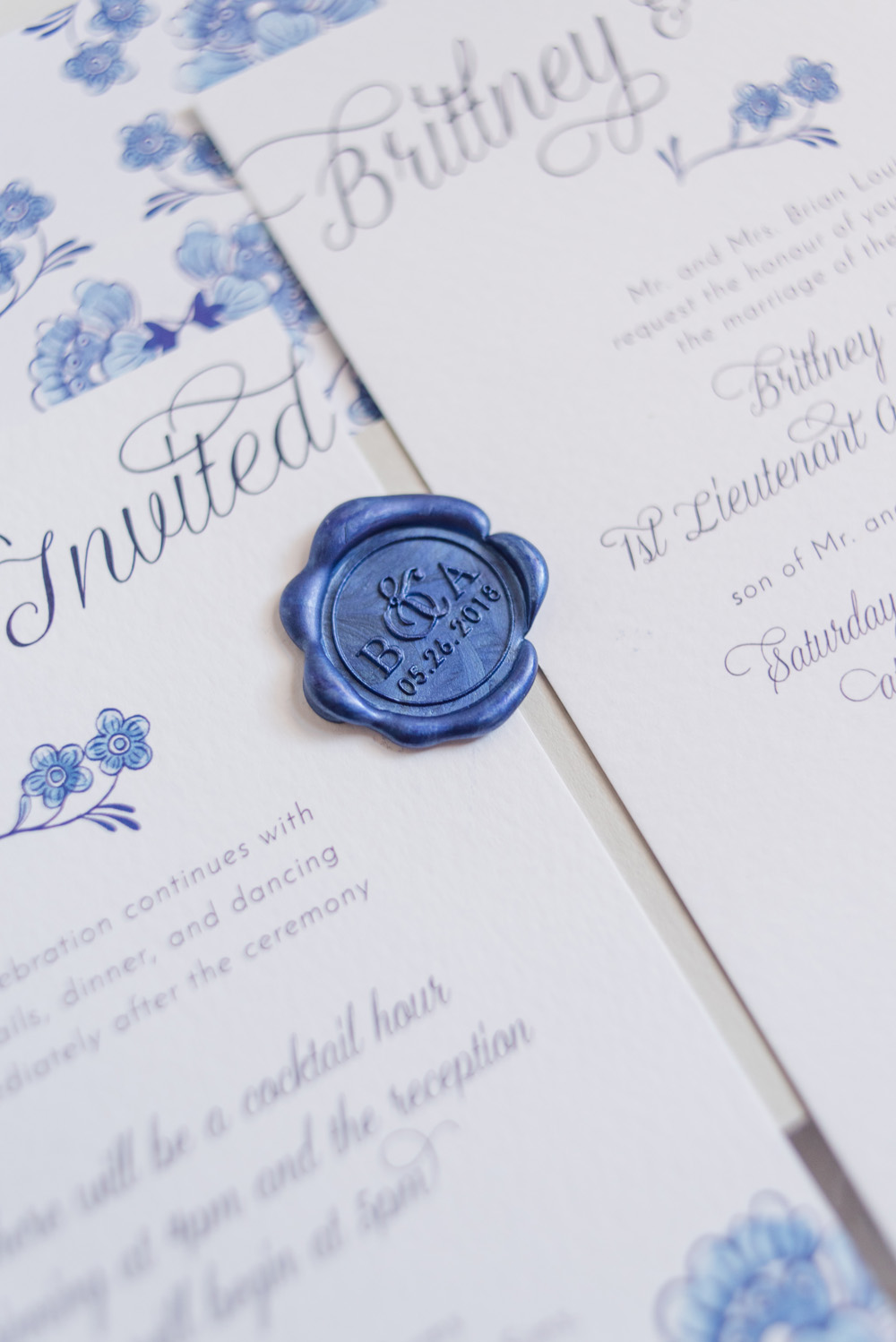 Brittney and Anthony North Carolina Wedding, Spring Wedding, Barn Wedding, Church Wedding, Unique Bespoke Wedding Stationery, Custom Wedding Stationery, Pink and Blue Wedding14.jpg