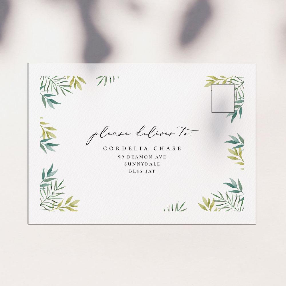 address printing (white envelope)