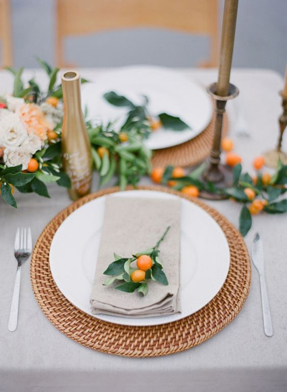 Citrus Orange Wedding Plate Decor 1.jpg