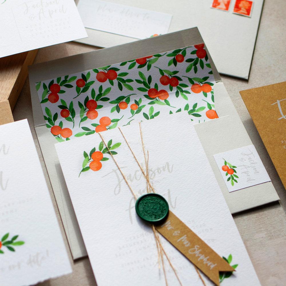 Citrus Orange Wedding Decor, Earthy and Luxury, Eco Friendly Wedding Stationery, Orange Wedding Decor, Watercolour Wedding Staionery, Custom Wedding Stationery-bl.jpg