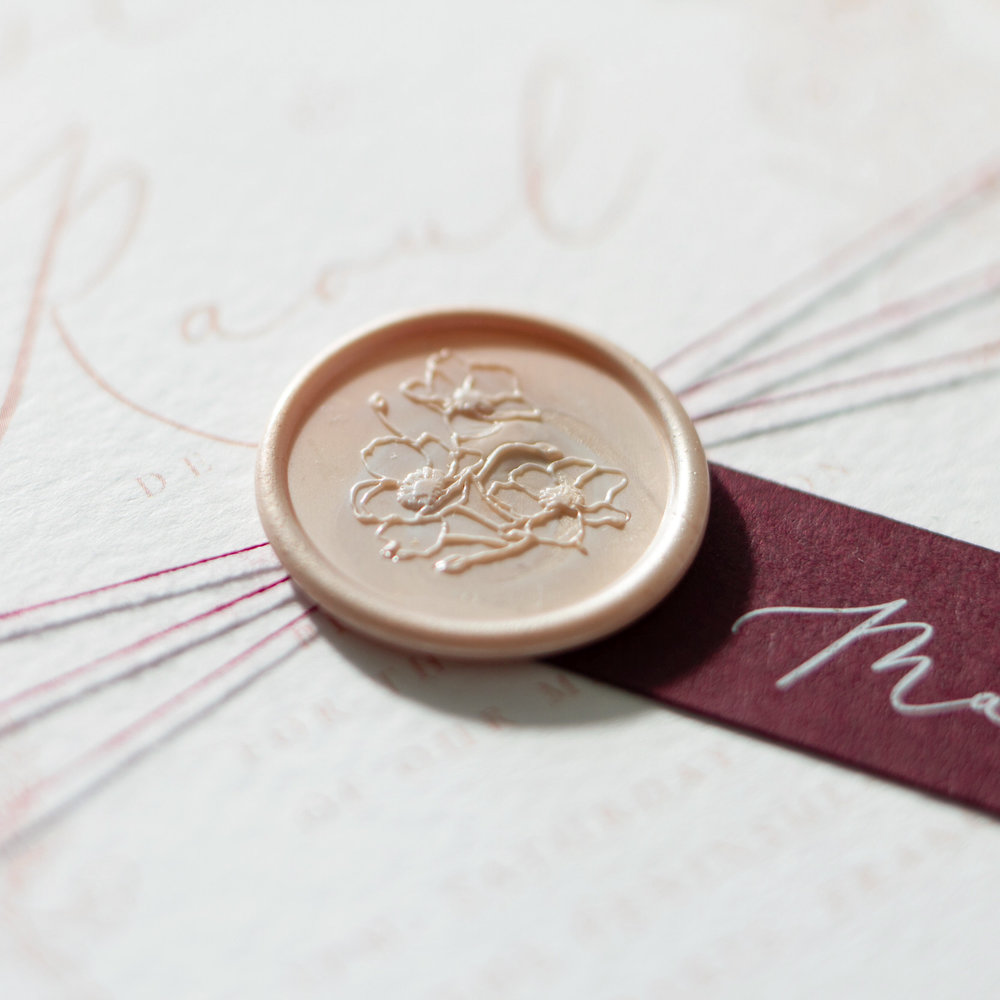 Blush Petals Blush Pink Wedding Stationery with Wax Seal Details1 - www.pinglepie.com.jpg