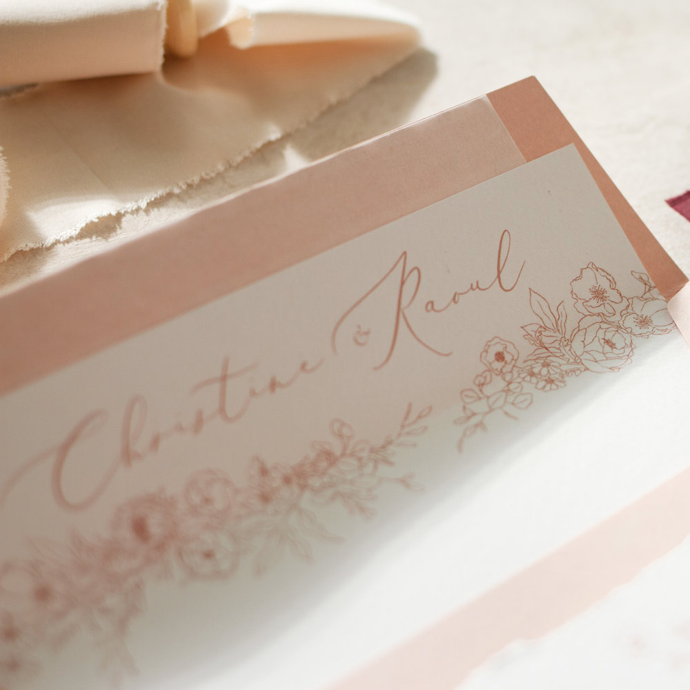 Blush Petals Blush Pink Wedding Stationery with Luxury Envelopes - www.pinglepie.com.jpg