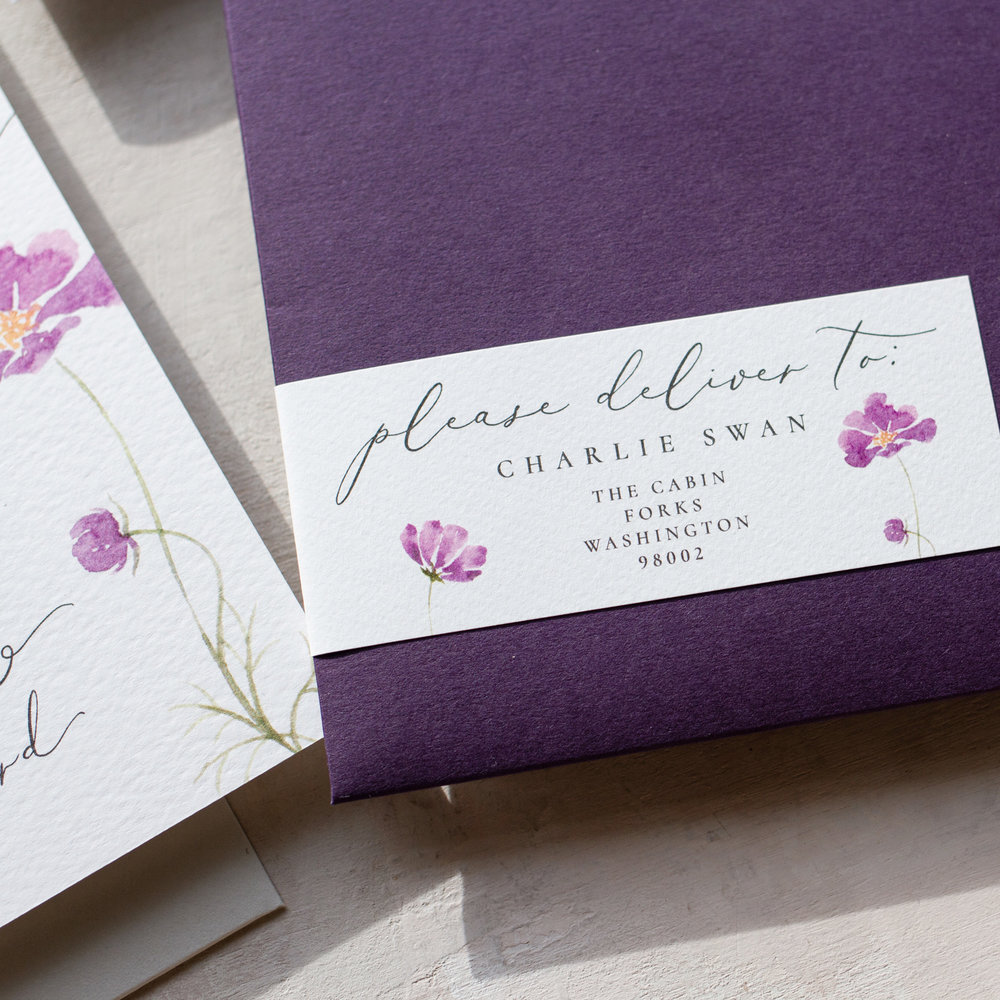 Amethyst Eclipse Luxury Envelope Details in Purple - www.pinglepie.com.jpg