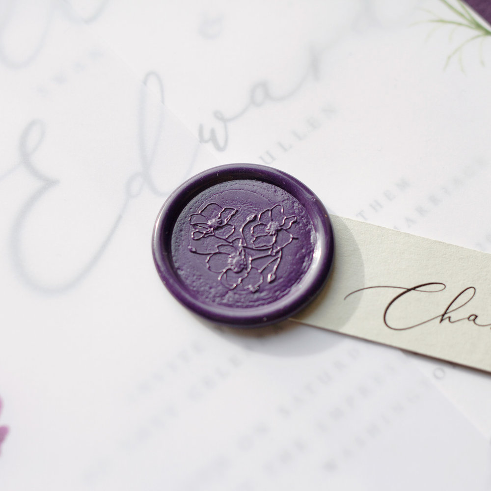 Amethyst Eclipse Vellum Wrap and Wax Seal Details - www.pinglepie.com.jpg