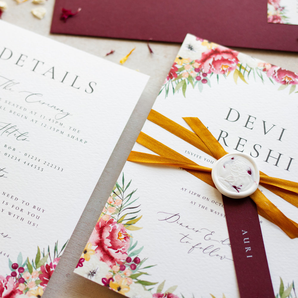 Autumn Leaves Luxury Autumn Fall Wedding Stationery - www.pinglepie.com.jpg