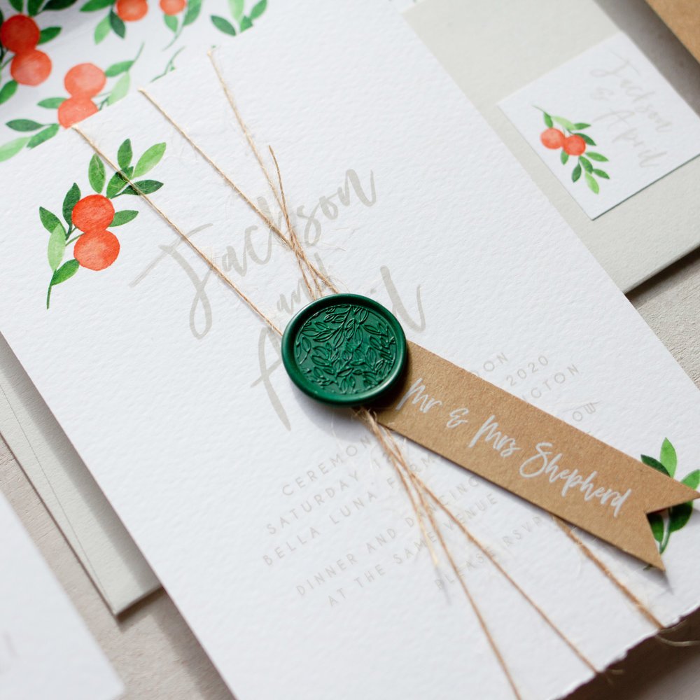 Citrus Orange Wedding Decor, Earthy and Luxury, Eco Friendly Wedding Stationery, Orange Wedding Decor, Watercolour Wedding Staionery, Custom Wedding Stationery 2.jpg