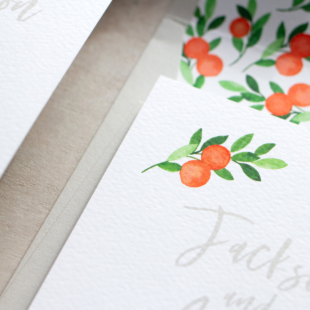 Citrus Orange Wedding Decor, Earthy and Luxury, Eco Friendly Wedding Stationery, Orange Wedding Decor, Watercolour Wedding Staionery, Custom Wedding Stationery 11.jpg