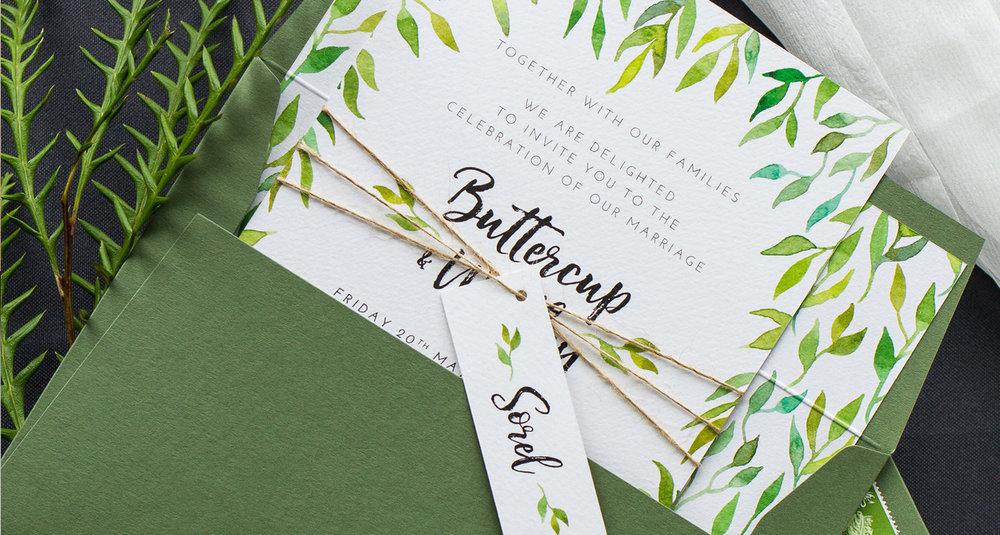 Leafy Green Botanical Wedding Invitation and Stationery.jpg