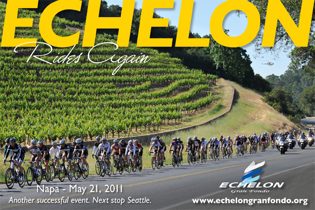 Postcard commemorating Echelon Napa Gran Fondo