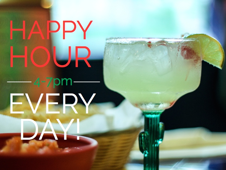 $4 Margaritas EVERY DAY!