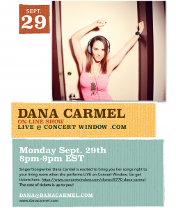 Dana Carmel Live on Concert Window