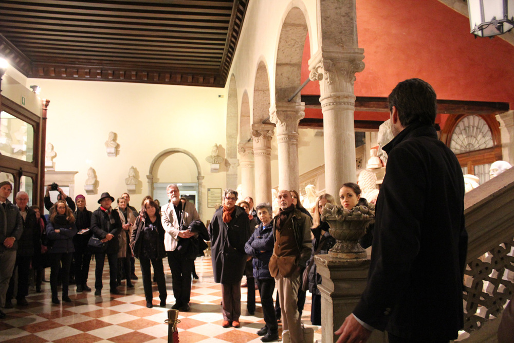 Professor Trotta addresses the guests.