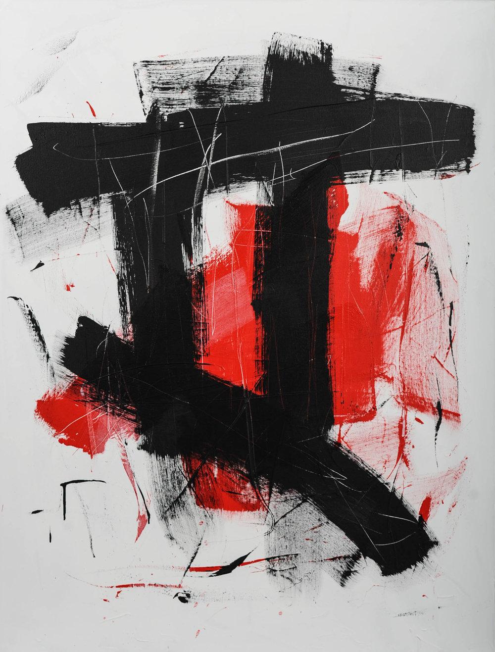 "script | acrylic 48"" x 36"" | 2016"