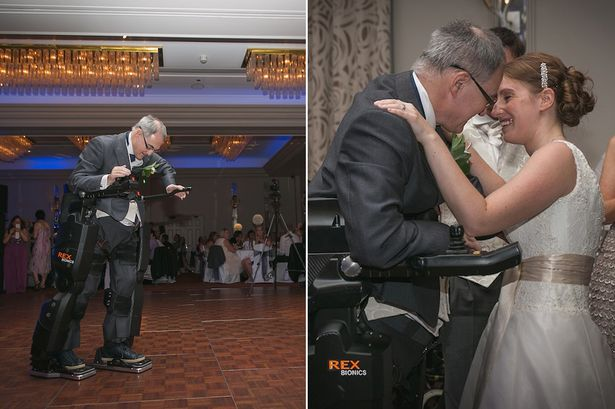 Tear-jerker: Tetraplegic Irving Caplan delivered the speech at his daughter's wedding