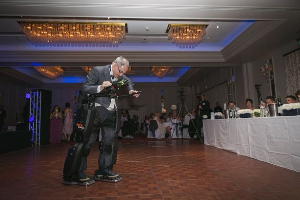 Technology: Irving was able to walk and then stand thanks to a Rex Bionics exoskeleton suit