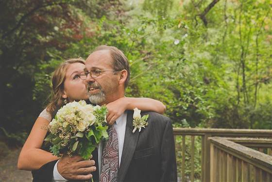 Evan Burgher In anticipation of her wedding day, Thea Henderson, 21, and her father, Frank, staged photos with her in a wedding dress and him in a suit. Frank was told in mid-September he may have only two weeks to live.