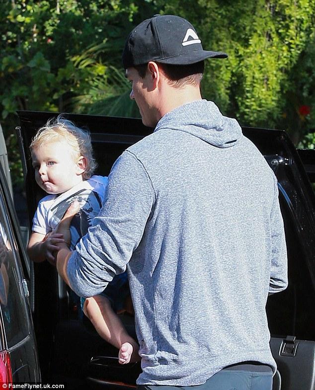 Doting Dad! Josh Duham...