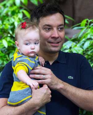 Jimmy Fallon and Daughter Winnie Rose. Image via: nypost.com