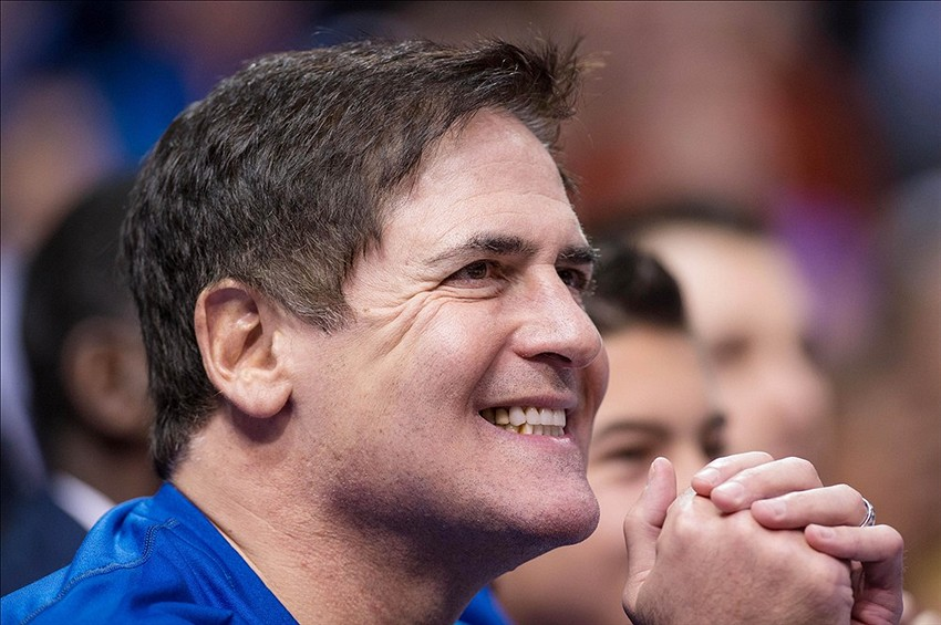 Mark Cuban at a Dallas Mavericks Game (Image: Fansided)