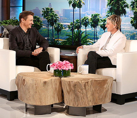 "Jeremy Renner joked to Ellen DeGeneres that fatherhood ""kind of screwed [his] career"" because all he cares about is his daughter Ava"