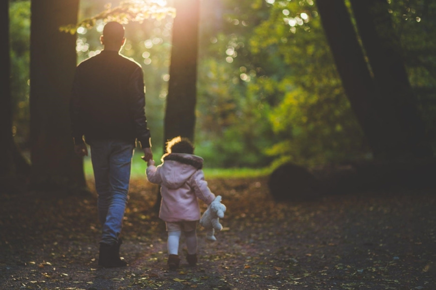 dad and baby girl in forest.jpg
