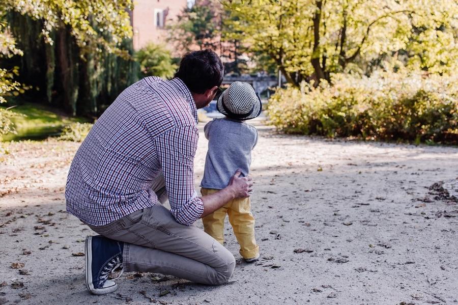 dad in park.