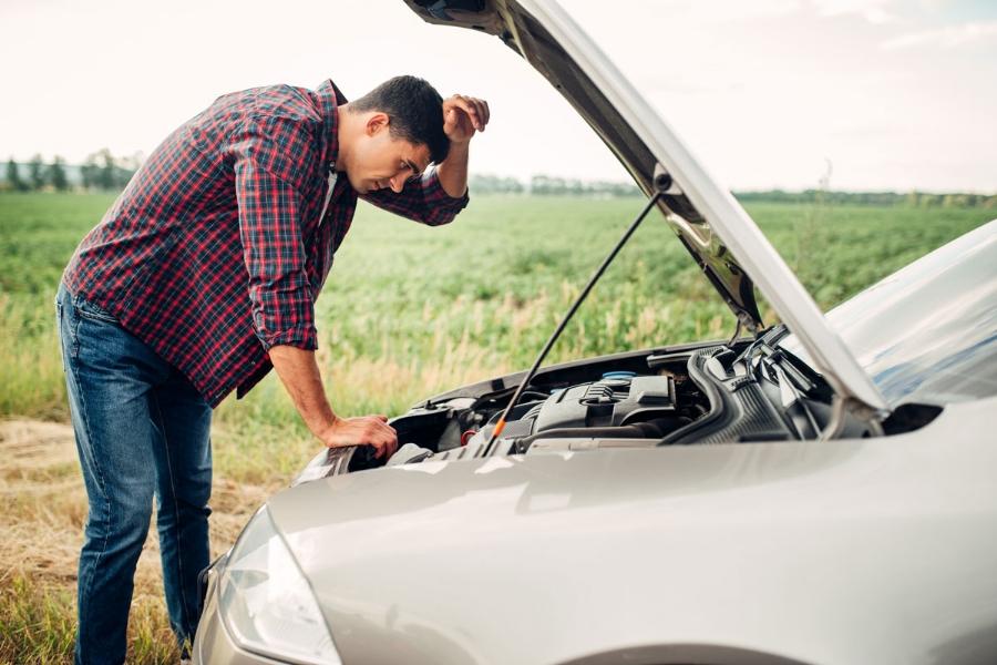 Car breakdown road trips summer