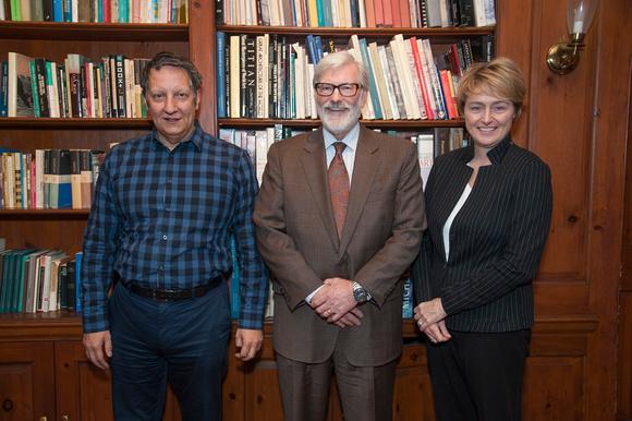 Robert Lepage MMC President Shaver and Mme. Poirier.jpg