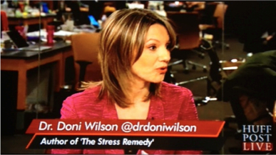 Dr. Doni Wilson appears on Huffington Post Live to weigh in on holiday stress and promote her new book, THE STRESS REMEDY.