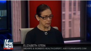 Celebrity Midwife, Elizabeth Stein, appears on FOX News to weigh in on women's health and wellness topics.